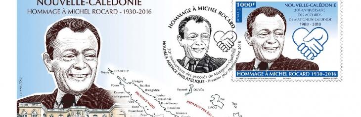Emission d'un timbre-poste en hommage à Michel ROCARD